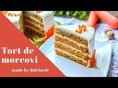Easy Cake Recipes, Dessert Recipes, Romanian Desserts, Easy Video, Food Cakes, Carrot Cake, Vanilla Cake, Sprinkles, Carrots