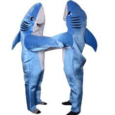 31e807da8b Adult shark costume animal cosplay suit Mascot unisex Cute jumpsuits  halloween costumes for women mascote wholesale