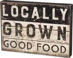 Box Sign - Locally Grown