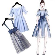 Korean Fashion – How to Dress up Korean Style – Designer Fashion Tips Look Fashion, Korean Fashion, Girl Fashion, Fashion Dresses, Womens Fashion, Fashion Trends, Fashion Ideas, Latest Fashion, Fashion Sewing