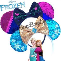 Frozen Mouse ears mouse ears hair clip mickey door GlamBOWtiqueShop