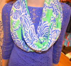 Lilly Pulitzer Resort '13- Riley Infinity Loop Scarf in Spearmint I Heard You