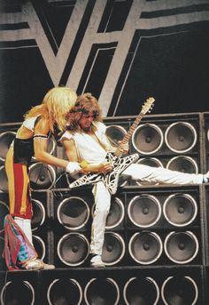 David Lee Roth and Eddie Van Halen