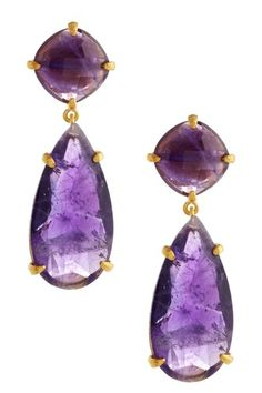 Candela Jewelry - Amethyst Teardrop Earrings