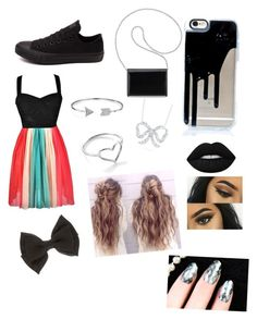 """""""Homecoming 2016"""" by bertrandgirl ❤ liked on Polyvore featuring Converse, Nine West, Bling Jewelry, Jordan Askill, Roberto Coin and Lime Crime"""