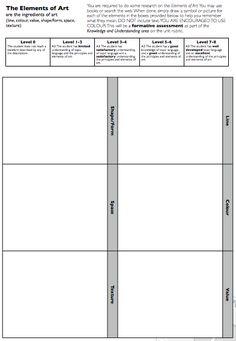 Elements of Design Worksheet
