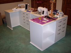 Multiple purpose sewing center