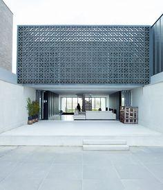 Concrete block screen.... pretty cool.
