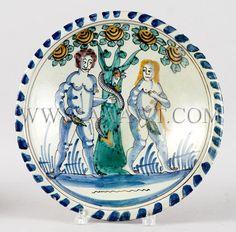 Antique Delft, Prattware, Porcelain, Pottery