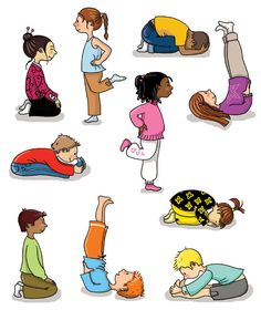 Yoga poses for kids 🧘‍♂️🧘‍♀️💛 💛. by Kids Sydney Abc For Kids, Yoga For Kids, Exercise For Kids, Motor Activities, Activities For Kids, Activity Ideas, Chico Yoga, Kids Yoga Poses, Childrens Yoga