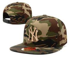 Men's New York Yankees New Era 9Fifty Gold Metal NY Logo A-Frame Baseball Snapback Hat - Woodland Camo - Click Image to Close