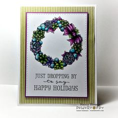 Rowhouse Greetings   Christmas   Succulent Wreath and Baubles by Power Poppy