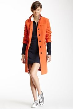 GANT By Michael Bastian Wool Blend Flap Pocket Coat on HauteLook