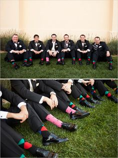 colorful groom socks
