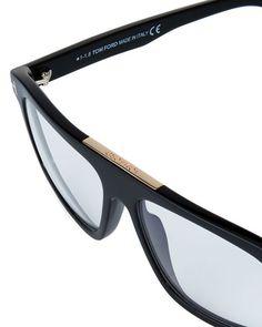 4e9cfb06bc81 Men's Rectangular Acetate Eyeglasses, Black Tom Ford Men, Oakley Sunglasses,  Man Shop,