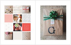 December Daily 2014: Day 21 — Wrapping presents | 8x10 Blurb photo book pocket page layout | yolandamadethis.com