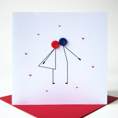 kissing couple button card by mrs l cards | notonthehighstreet.com