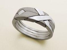 SOLID MATTE Unique Puzzle Rings