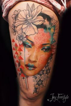 A gorgeous piece by Jay Freestyle. I love the mixture of styles in this! It's stunning