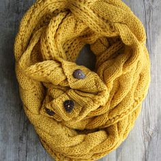 Mustard infinity scarf--Taking this to this Northwoods in the fall!