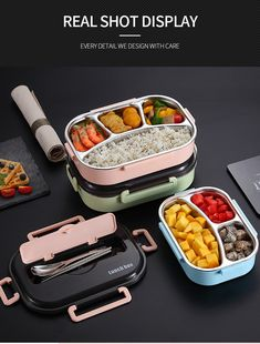WORTHBUY Japanese Kids Lunch Box 304 stainless steel Bento Lunch Box With Compartment Tableware Microwave Food Container Box - Presspia Japanese Kids, Japanese Lunch Box, Japanese Style, Thermal Lunch Box, Insulated Lunch Box, Microwave Recipes, Microwave Food, Lunch Box With Compartments, Truck Accessories