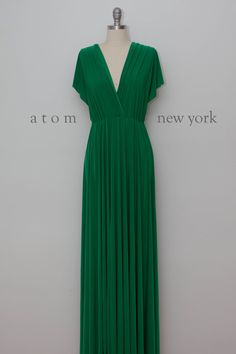 Emerald Green Floor Length Ball Gown Long Maxi by AtomAttire (multiple colors available, ships worldwide)