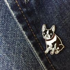 Boston Terrier Lapel Pin by KristinaMicotti on Etsy