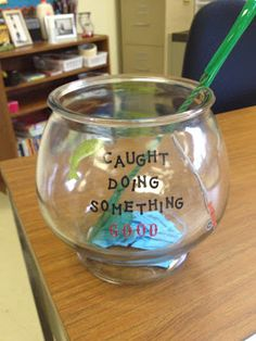 """Publicly celebrate on-task behavior with this """"caught doing something good"""" jar. You can later use the jar to reward the on-task behavior with a raffle."""