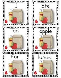 Awesome Apples! Scrambled Sentences - Students need lots of practice writing proper sentences. Just print, laminate, and cut out the sentence cards. Have the children sort the cards, put them in order to make sentences, and write them neatly in their booklet. Another option is to have them write the sentences on lined paper, which is included. There are 6 sentences to unscramble, a booklet to write the sentences (colored and black and white version) and lined paper.