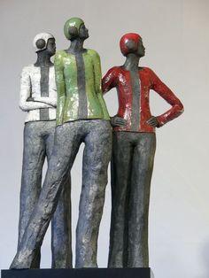 Sylvie du Plessis | Sculpteur Céramiste Sculpture, Stoneware, Deco, Image, Charms, Products, Art Sculptures, Accessories, Family Of Three