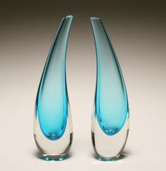 Murano Glass Vases...love these unique pair of vases