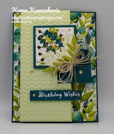 Birthday Fun, Birthday Cards, Fern Images, Box Of Sunshine, Leaf Cards, Small Cards, Scrapbook Cards, Scrapbooking, Stamping Up