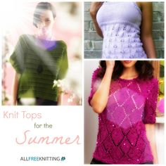 Knit Tops for the Summer