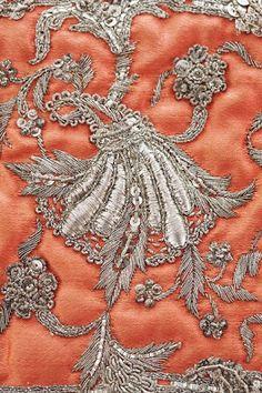 Embroidery at Oscar de la Renta.
