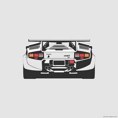 Lamborghini Countach on Behance