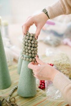 DIY Christmas Trees via A.Styled Event!