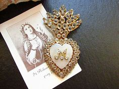 RESERVED+For+M+Antique+French+Heart+Reliquary+by+PaperLinenPearls,+$225.00