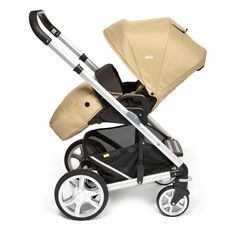 Joie Chrome Plus Pushchair Silver Chassis and Colour Pack with Cupholder - Sand