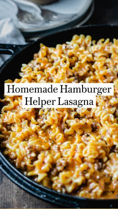 All You Need Is, Homemade Hamburger Helper, Homemade Hamburgers, Brunch, Main Meals, Food Dishes, Main Dishes, Pasta Side Dishes, Sandwiches