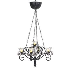 Exhart Anywhere Lighting Battery Operated Chandelier For