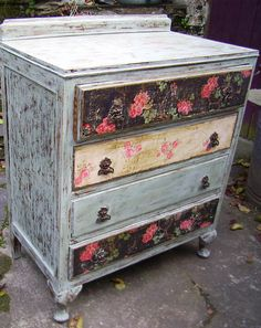 painted and decoupage
