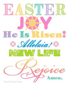 A cheery & colorful 8x10 Easter printable for your home decor, that is spiritually themed. Easter, free-printables, printables, Easter-decor, Easter-home-decor, spiritual-Easter http://houseofjoyfulnoise.com/spiritual-easter-printable-for-you/