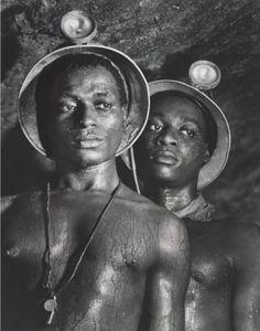 Margaret Bourke-WHITE  working diamond mine in South Africa. 1950