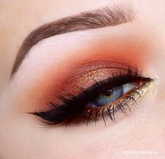 Copper smokey, perfect for blue and green eyes, by Katie Nova