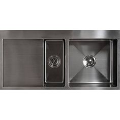 Kitchen Sink 1000 L x 500 D x 200 H mm with Double Bowls Right Side Bowls. Undermount or Topmount Installation.