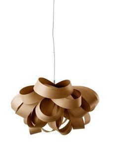 lampara colgante techo diseño en madera, original