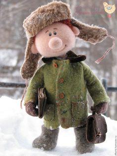 Купить Пашка.. - комбинированный, Валяние, валяная игрушка, валяние из шерсти, кукла ручной работы