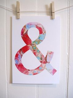 Ampersand by KathyPanton on #etsy $16 art print #red