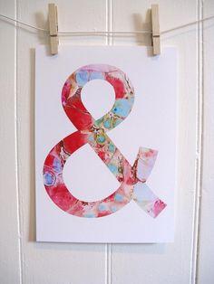 Ampersand by KathyPanton on #etsy $16 art print #red