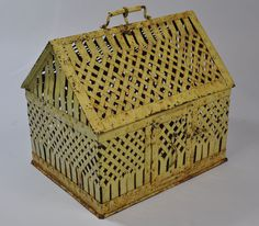 Antique Yellow Metal Snake Cage French